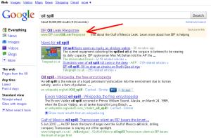 BP-Anzeige (Sponsored Link) in Goole Suchergebnis